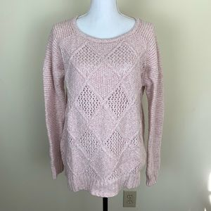 American Eagle pink oversized sweater